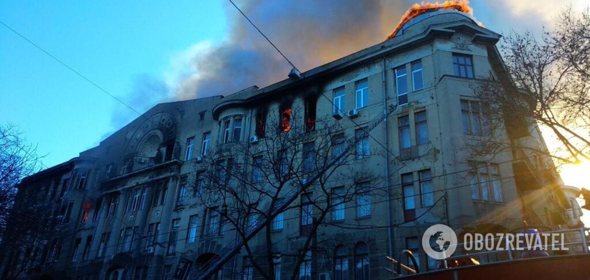 Озвучена официальная причина пожара в колледже Одессы
