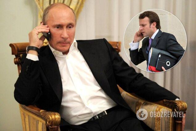 Путін обговорив із Макроном Україну
