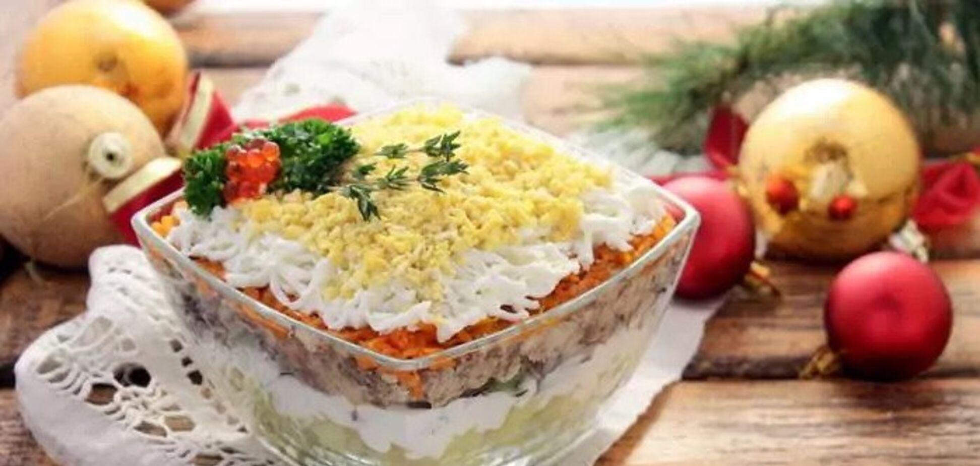 Рецепти дивовижних шарових салатів на Новий рік 2020