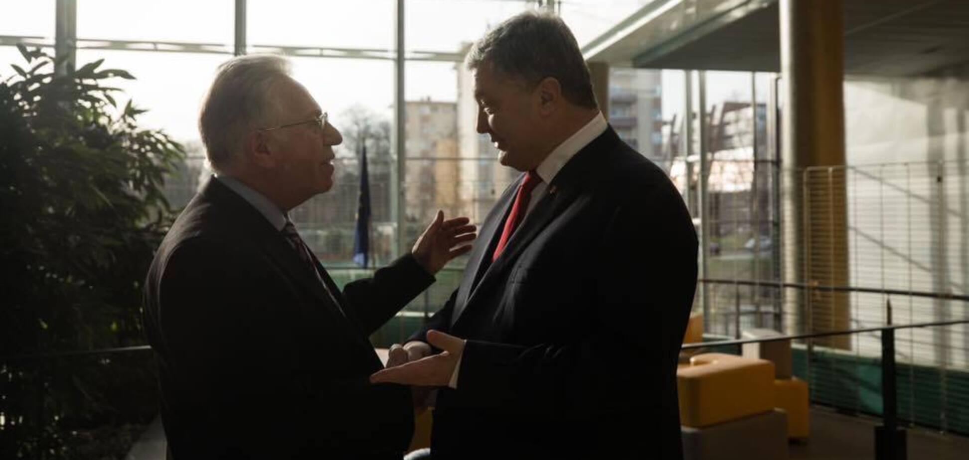 Петро Порошенко у Страсбурзі зустрівся з Джанні Букіккіо