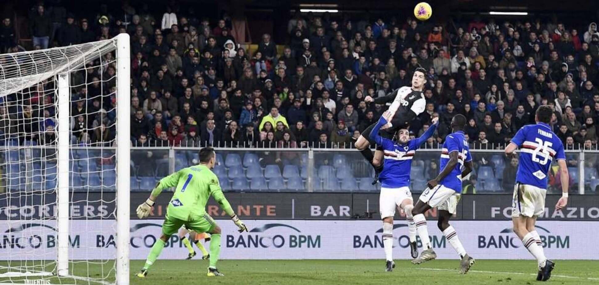 Роналду забив неймовірний 'літаючий' гол в Італії