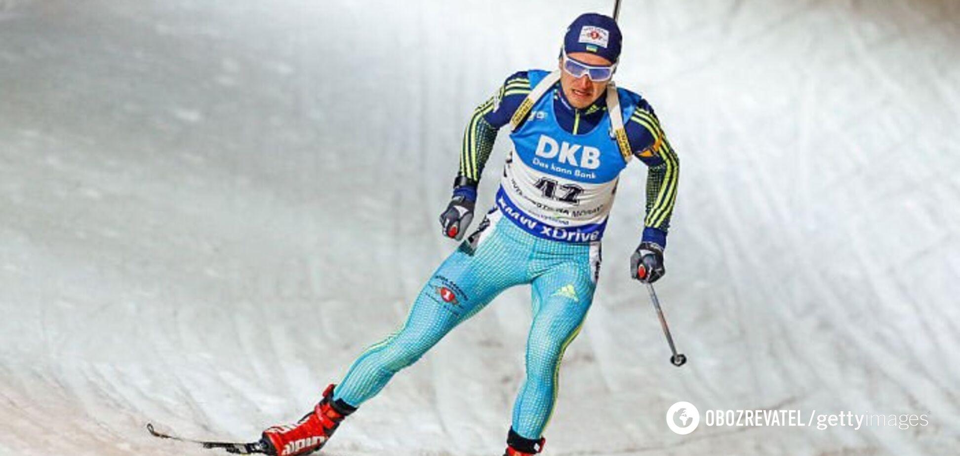 Український біатлоніст із великим відривом виграв 'золото' Кубка IBU