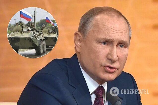 Путін заявив, що на Донбасі немає іноземних військ