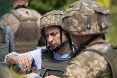 Владимир Зеленский на Донбассе