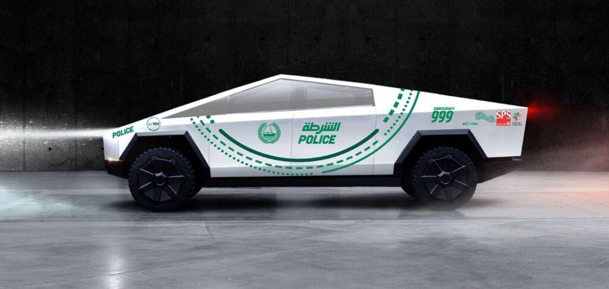 Найбагатша поліція світу закупить Tesla Cybertruck: електрокари отримають унікальний дизайн