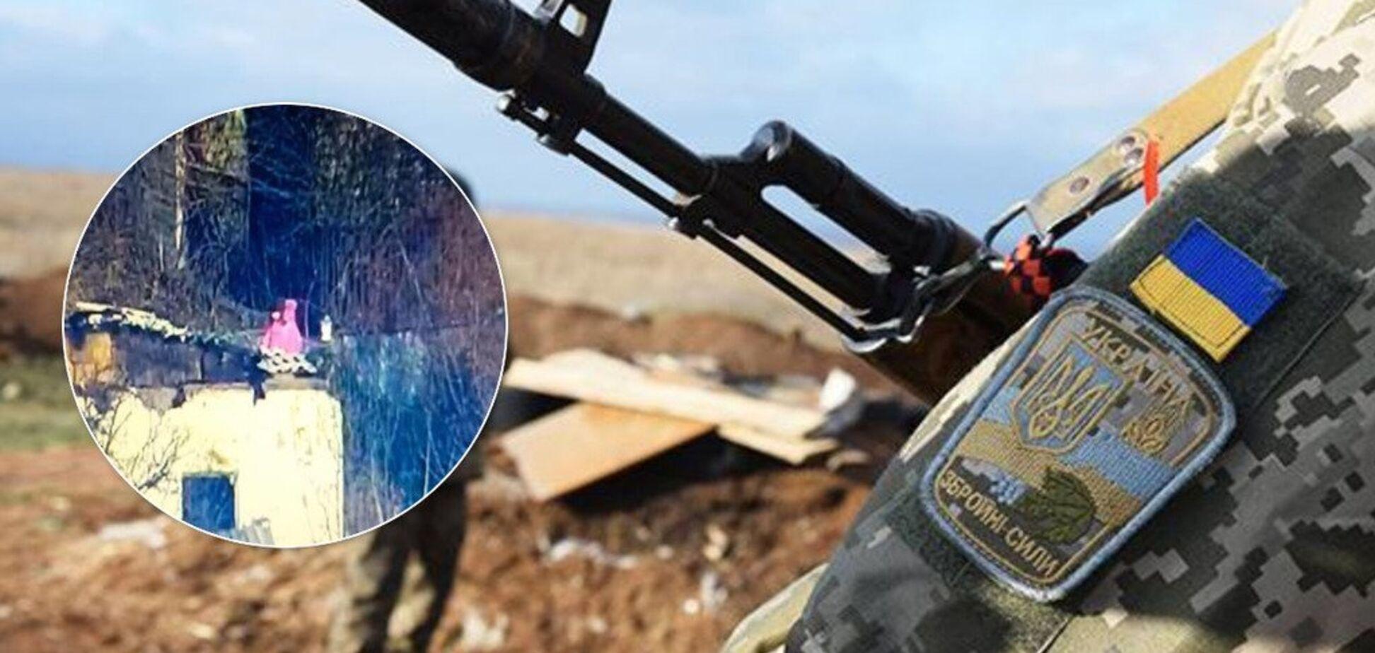 'Ховається за дитячою спиною': на позиції снайпера 'ДНР' помітили дівчинку. Фотофакт