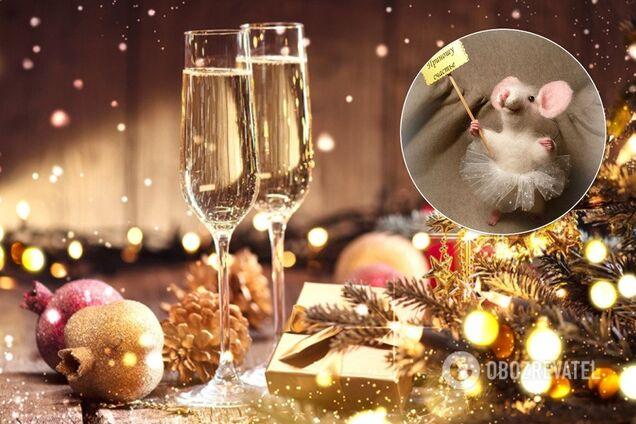 Крыса любит украшения в форме еды, поэтому конфеты на елке, елочные игрушки в форме тортов подойдут идеально