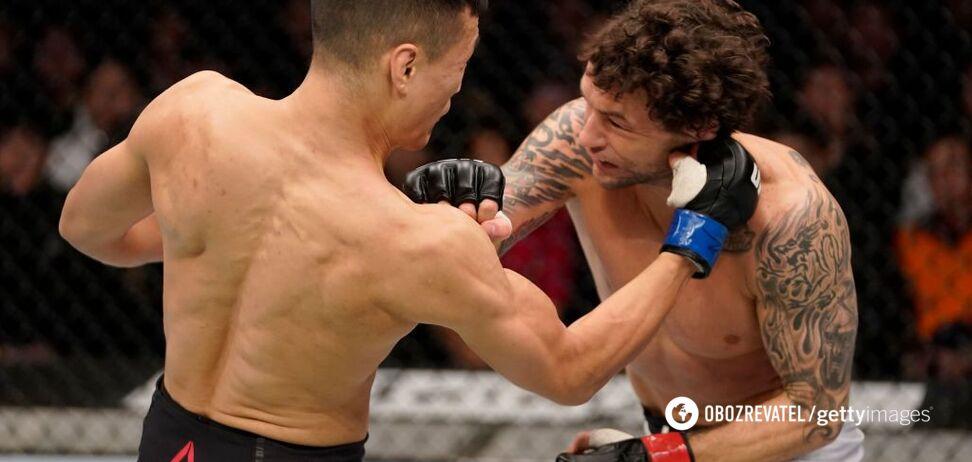 'Корейский зомби' победил эффектным нокаутом в UFC в первом же раунде