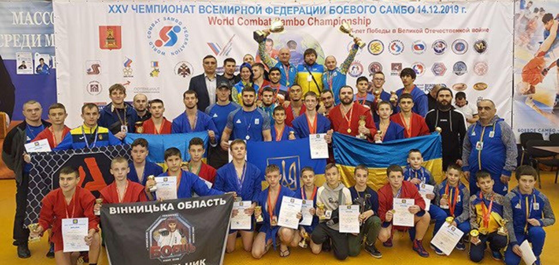 Под портретом Путина: сборная Украины выступила в России вместе с 'ДНР'