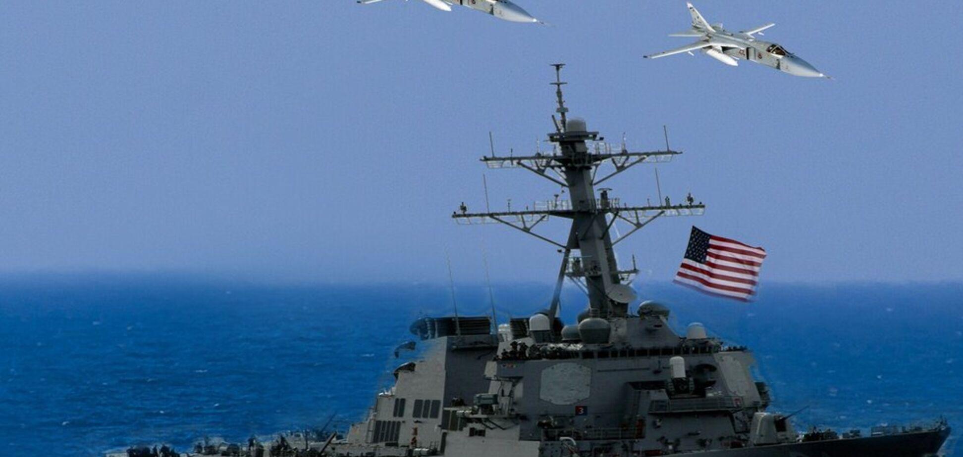 В Черном море Россия сымитировала удар по эсминцу США