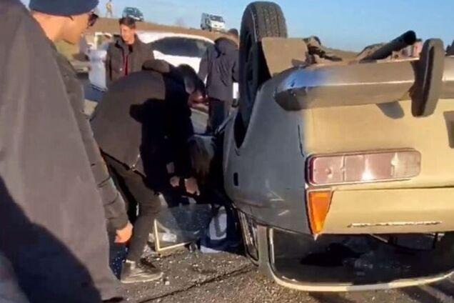 В Одесі перекинулось авто з дрифтерами