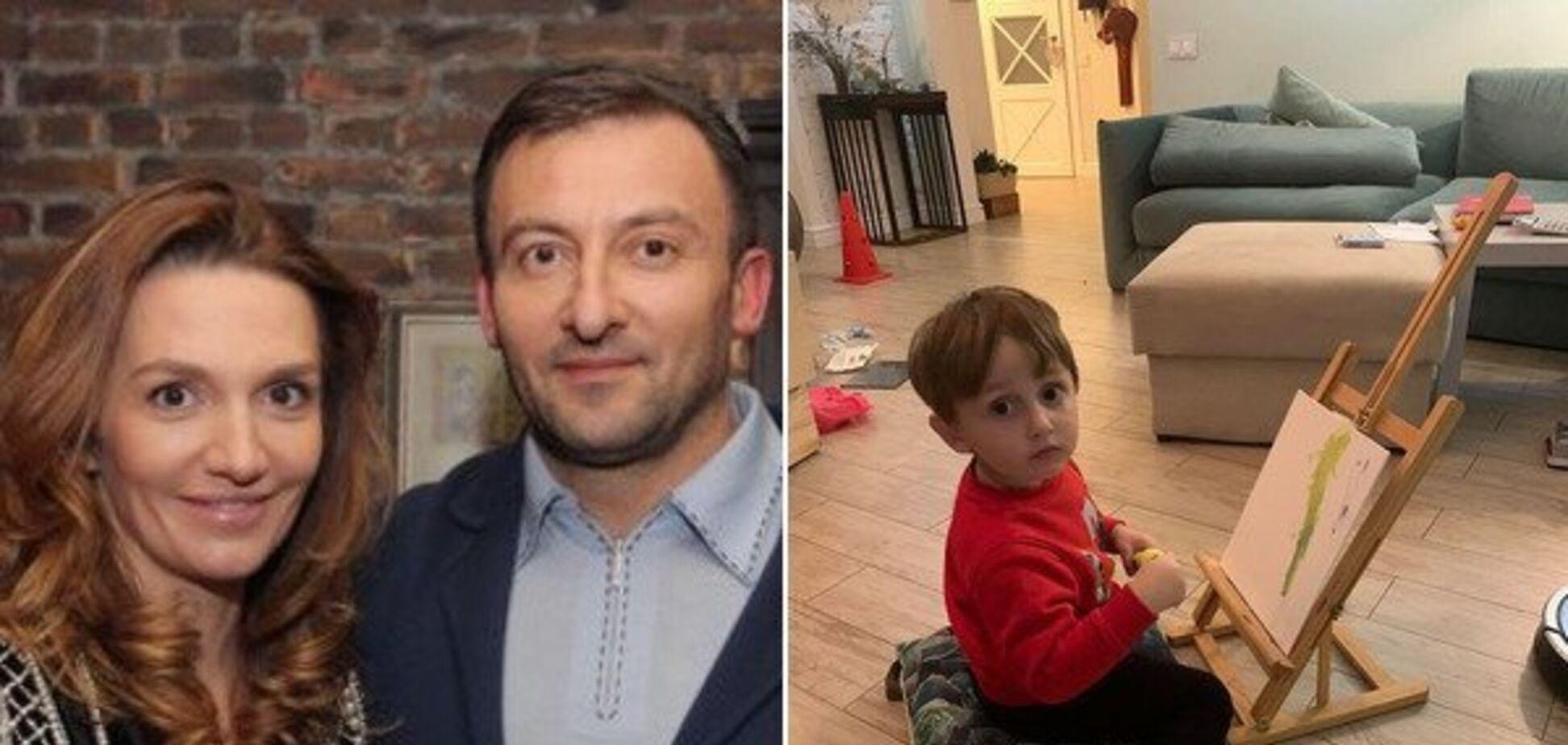 Депутат Соболєв з дружиною Інною та загиблий син Олександр