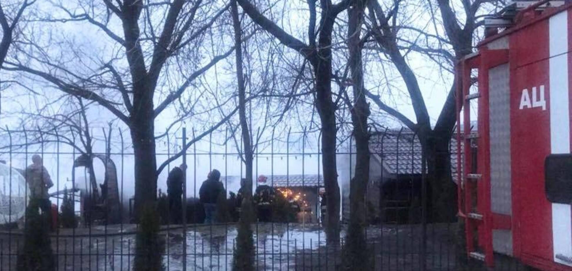 Пожежа в саунах в Києві