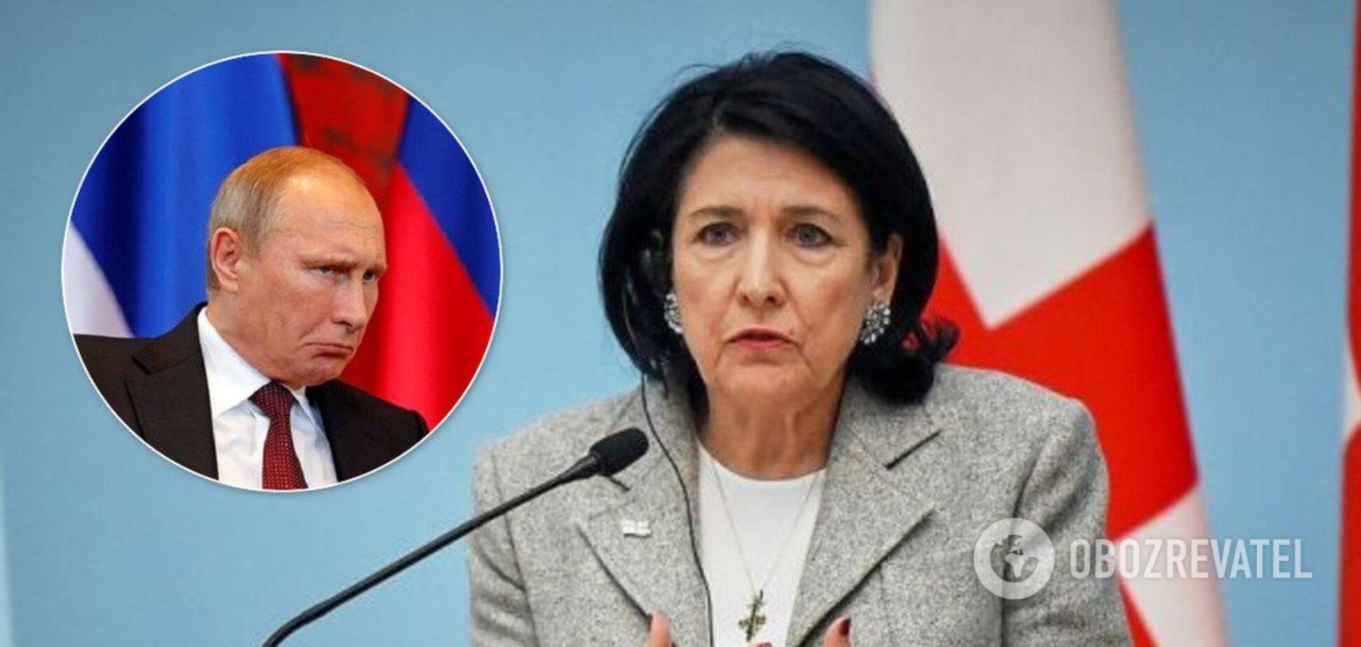 Глава Грузии в открытую пошла против Путина