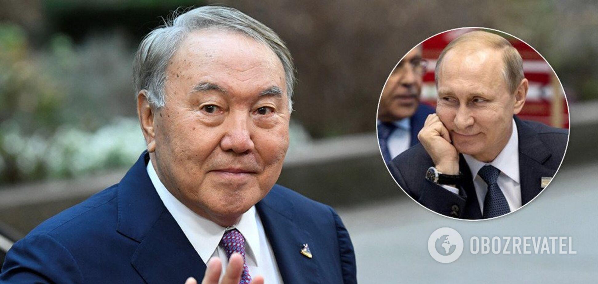 Назарбаев публично прогнулся под Путина