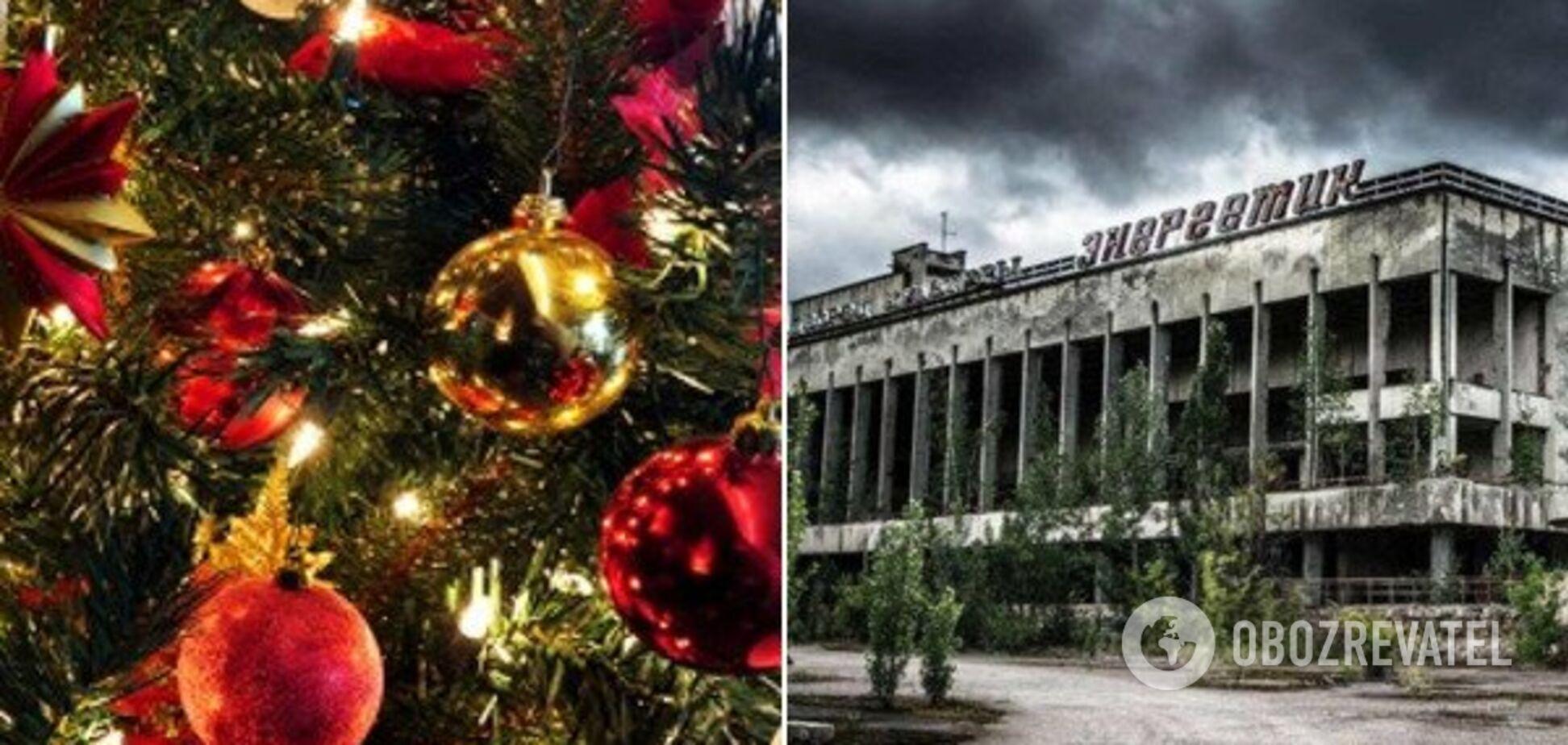 Свято в мертвому місті? Біля Чорнобильської АЕС з'явилася новорічна ялинка: неймовірні фото