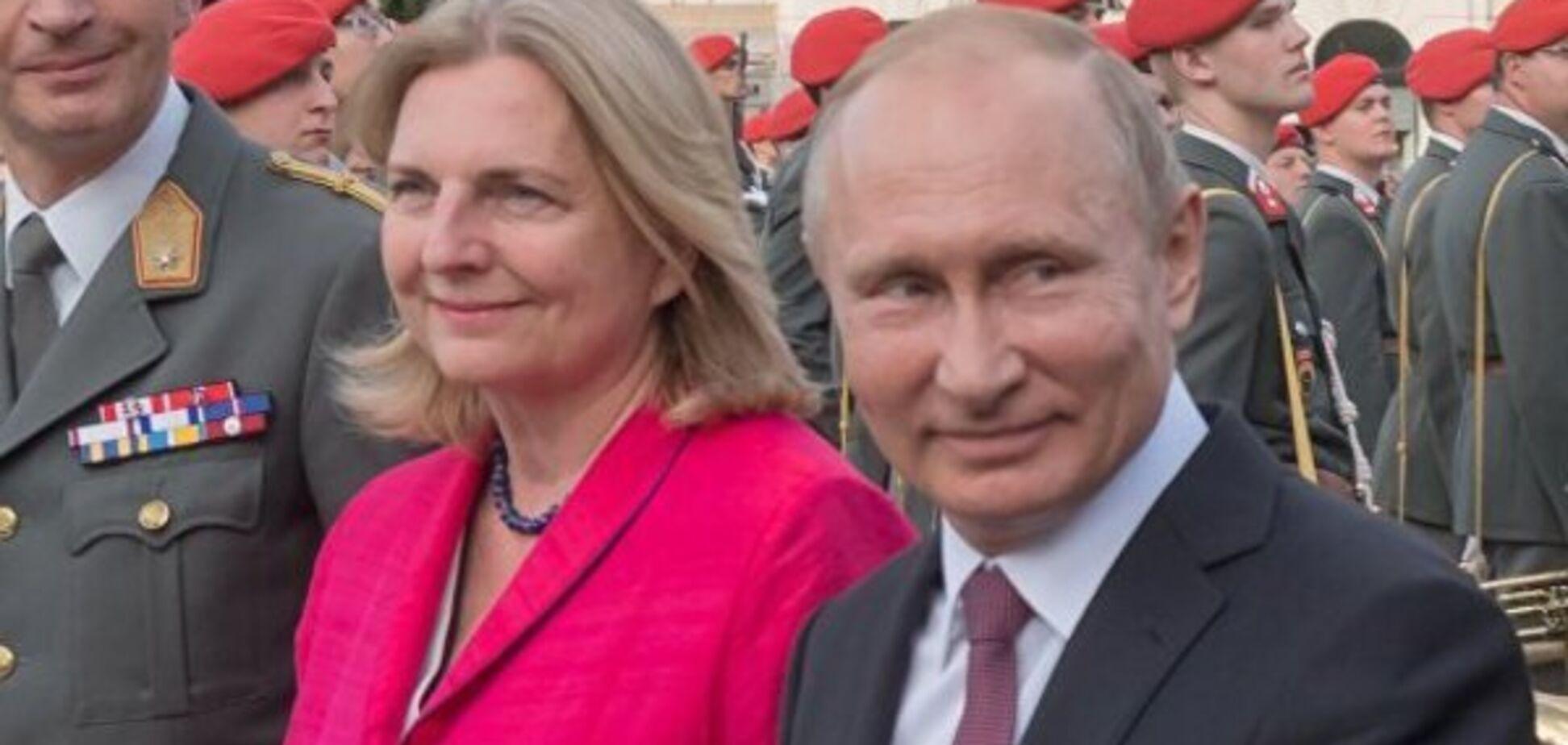 'Расчета не было!' Экс-глава МИД Австрии рассказала, как пригласила Путина на свадьбу