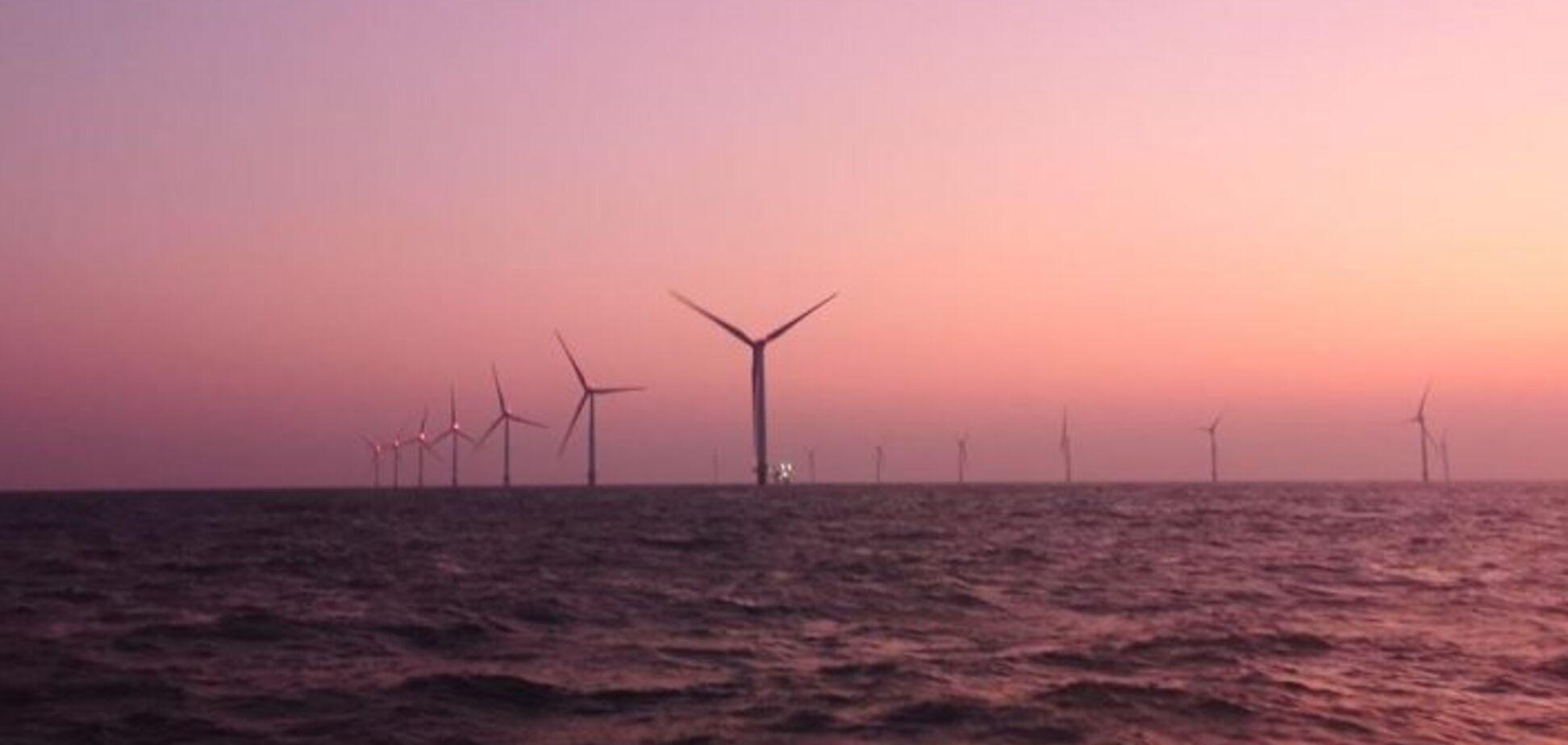 Китай в рекордні терміни побудував унікальну вітроелектростанцію