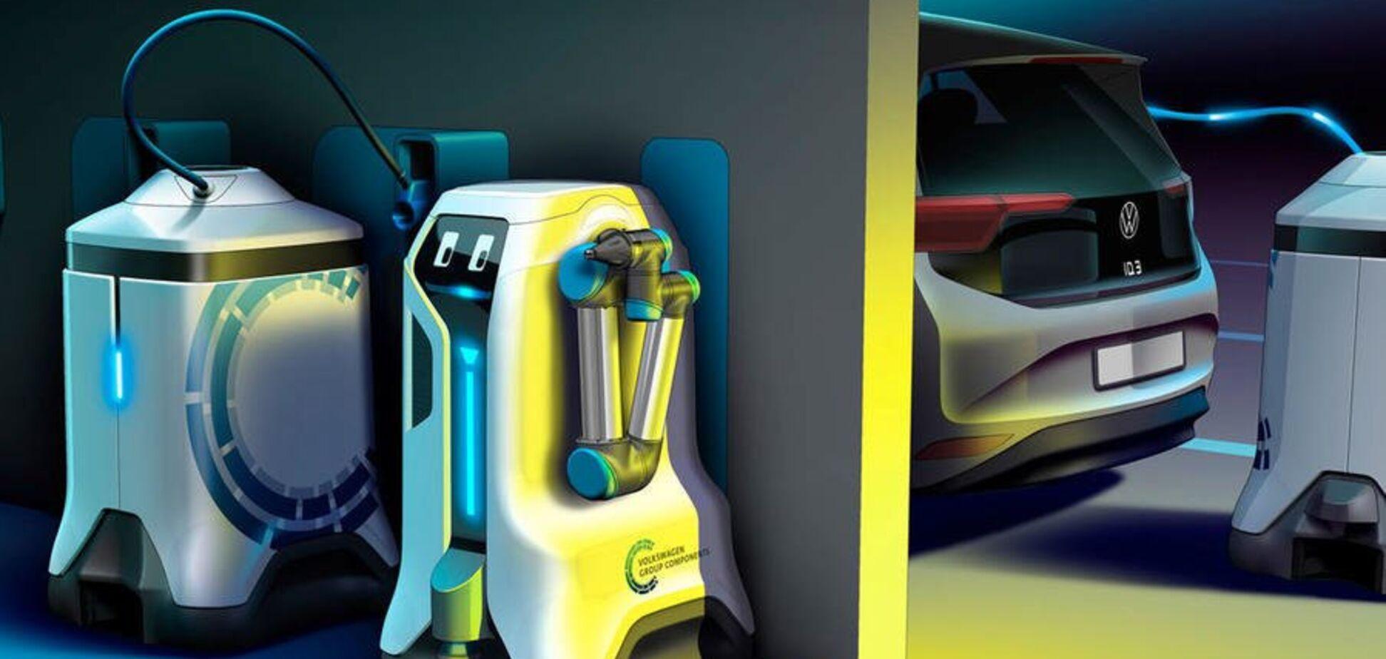 В Германии электромобили начнут заряжать роботы: что придумали инженеры Volkswagen