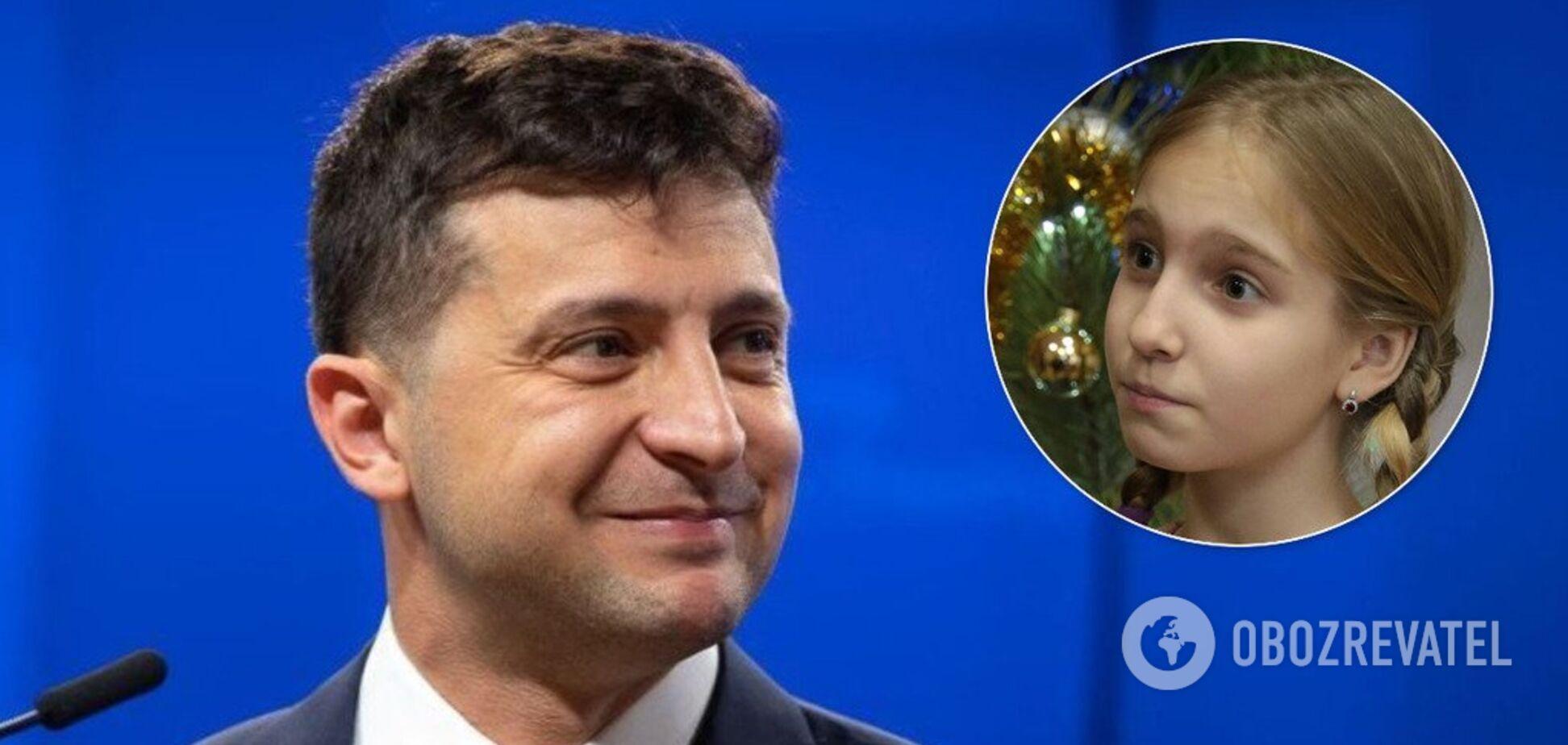 'Желаю отличных оценок и знаний': девочка поблагодарила Зеленского за новогодний подарок