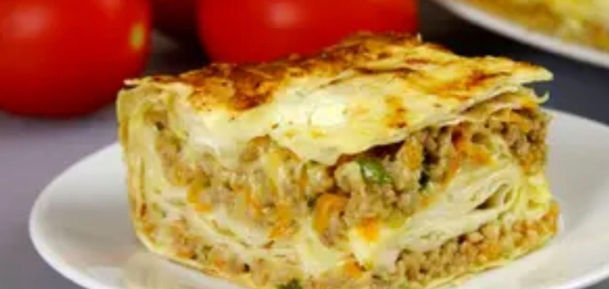 Рецепт найсмачнішого м'ясного пирога з лаваша