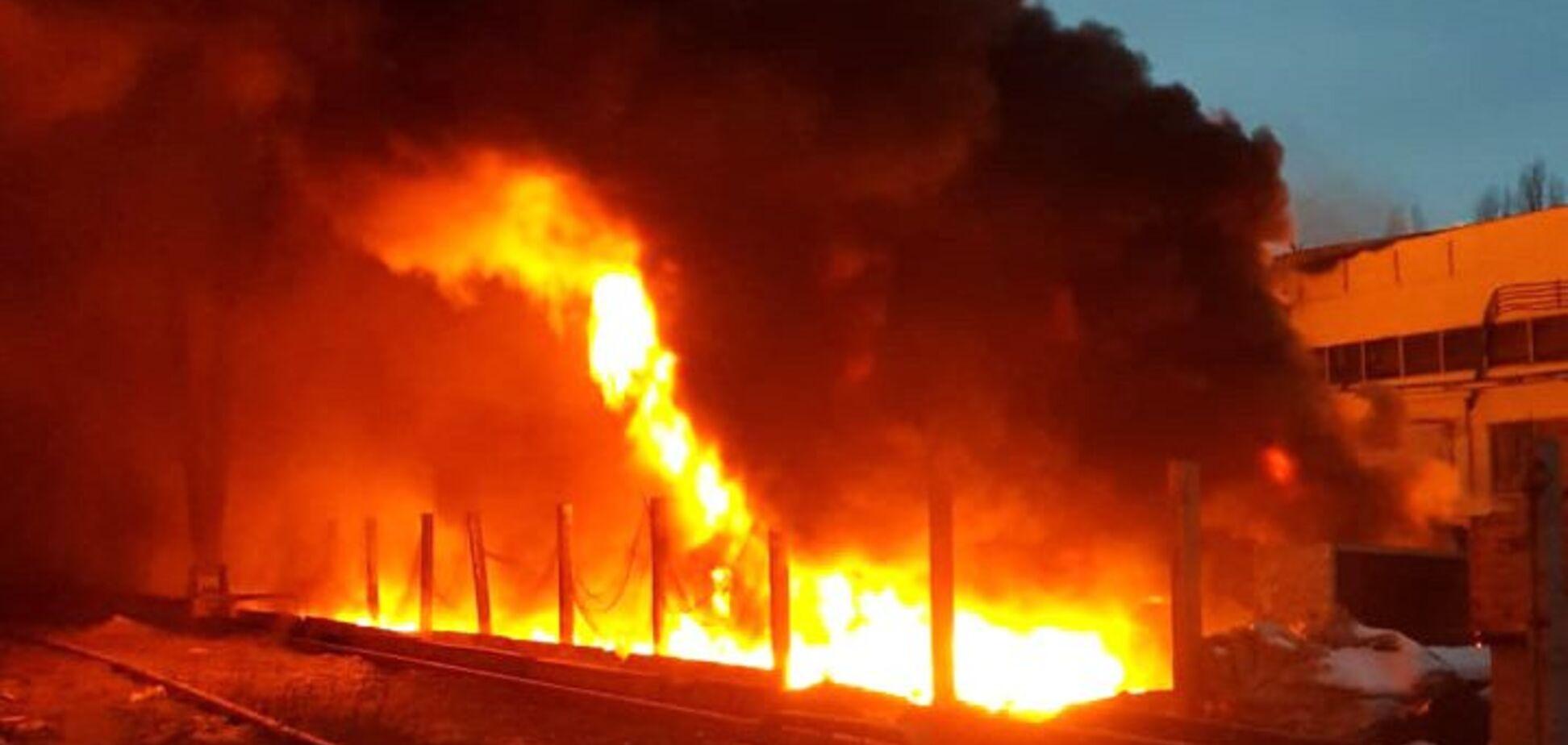 У будівельній компанії Полтави трапилася велика пожежа