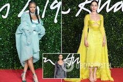 Рианна, Ирина Шейк и Эмилия Кларк: самые яркие образы на красной дорожке церемонии 'Оскар' в мире моды