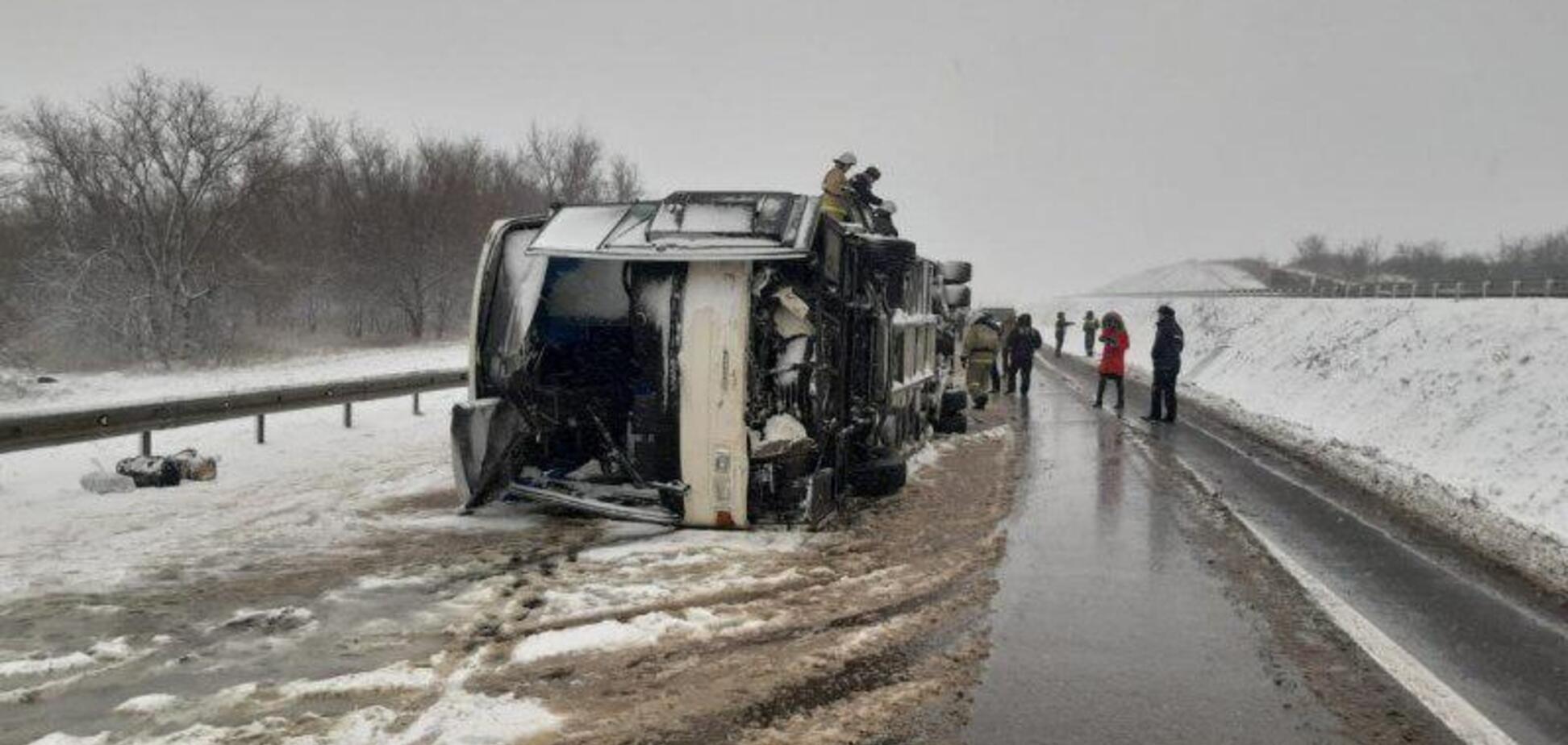 Украинцы попали в жуткое ДТП в России: 17 пострадавших