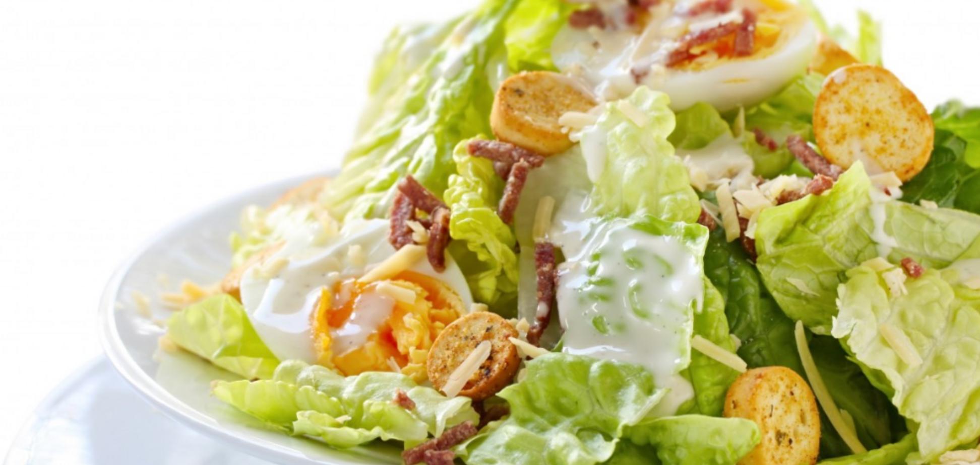 Найкращий рецепт салату 'Цезар' з куркою