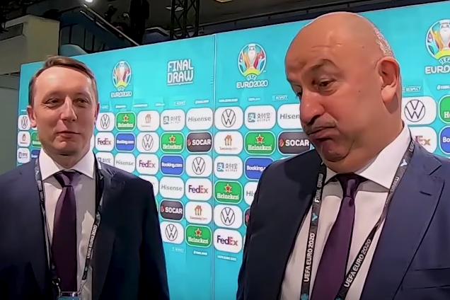 'Что будете чувствовать, проиграв Украине?' Черчесова потроллили на жеребьевке Евро-2020