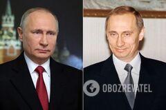 Был худой и без ботокса: как изменился Путин за 20 лет у власти в России