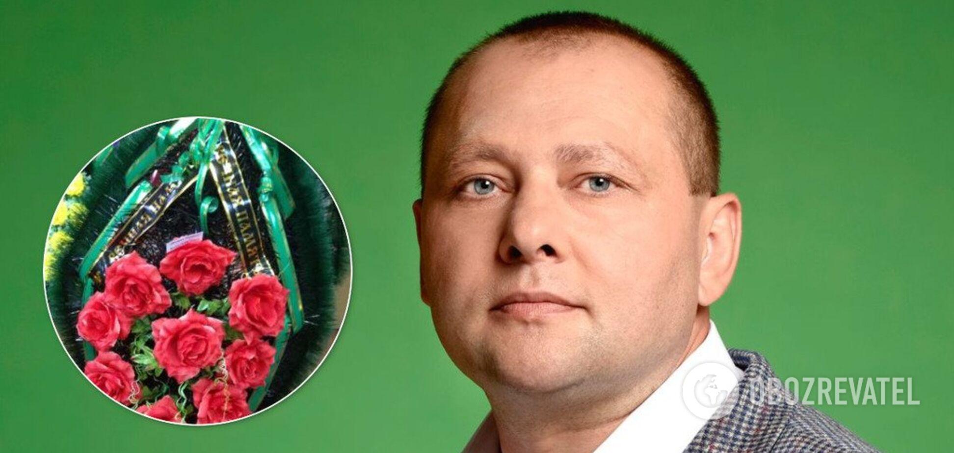 У Харкові нагрянули до 'слуги народу' з похоронними вінками. Відео