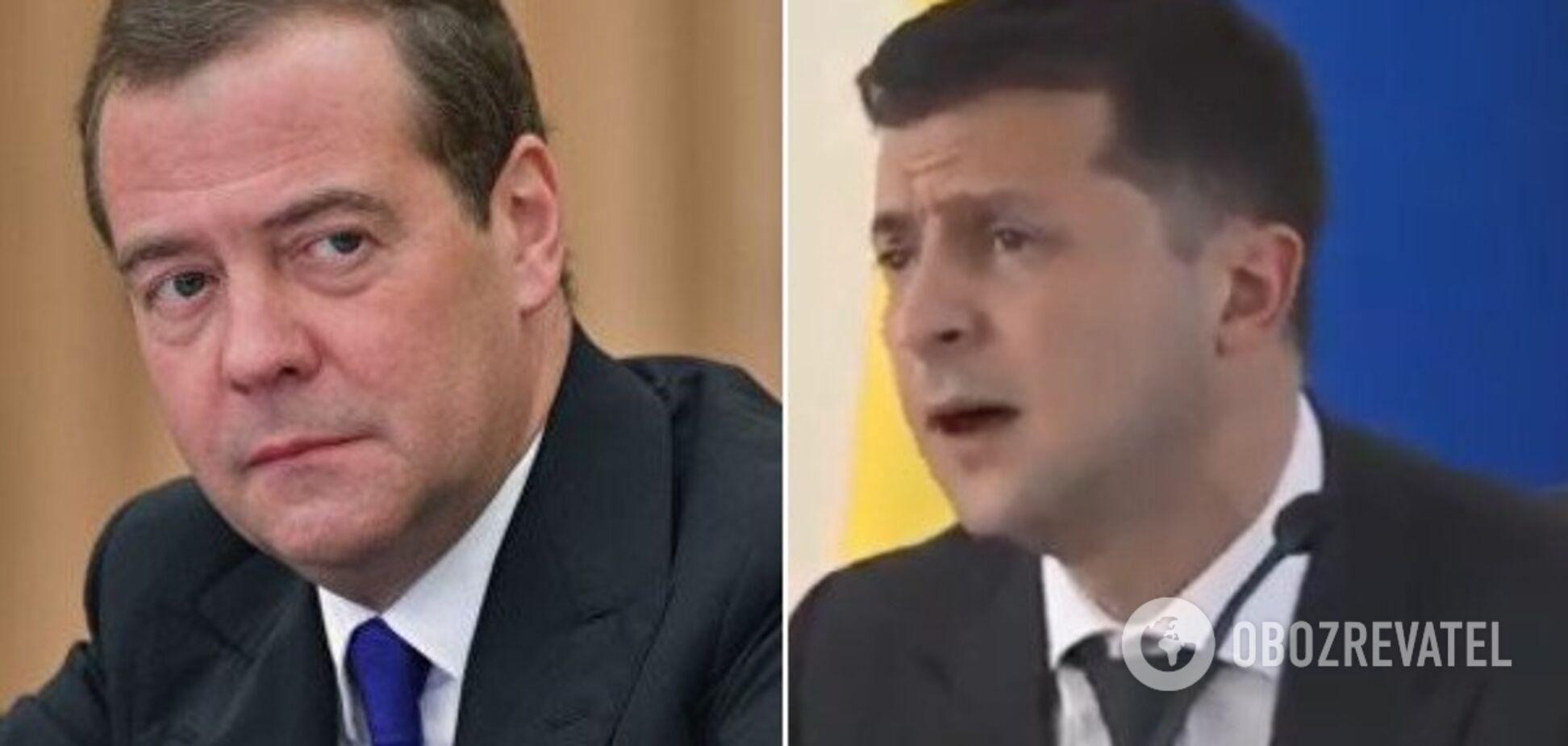 Медведев и Зеленский