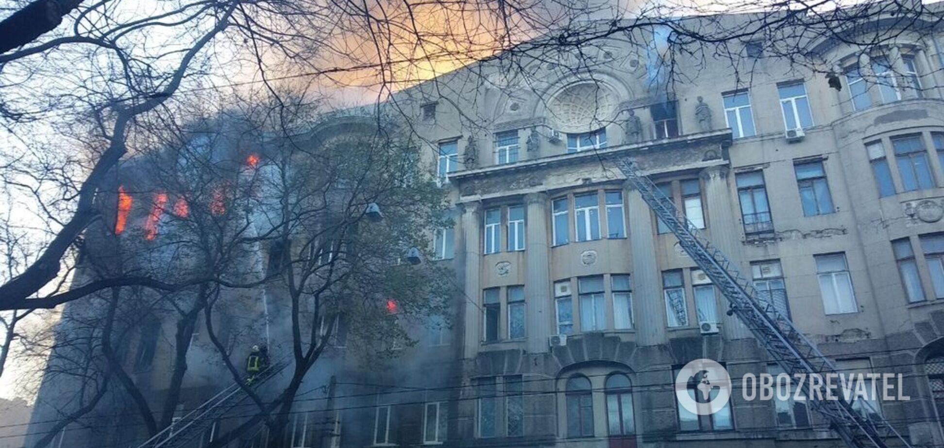 Пожежа в одеському коледжі: під завалами знайдене друге тіло