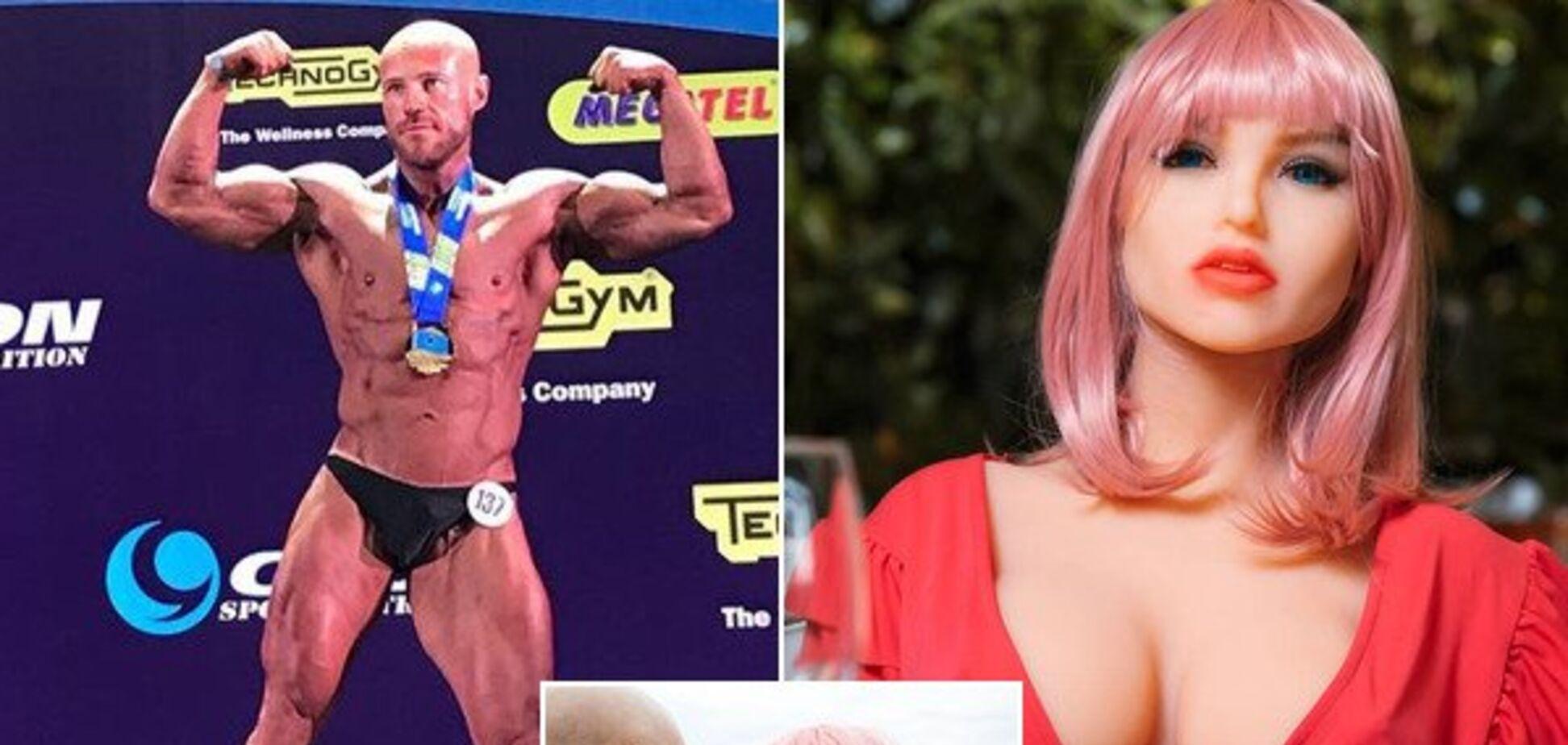 Бодибилдер-чемпион из Украины променял женщин на куклу и вызвал агонию у феминисток