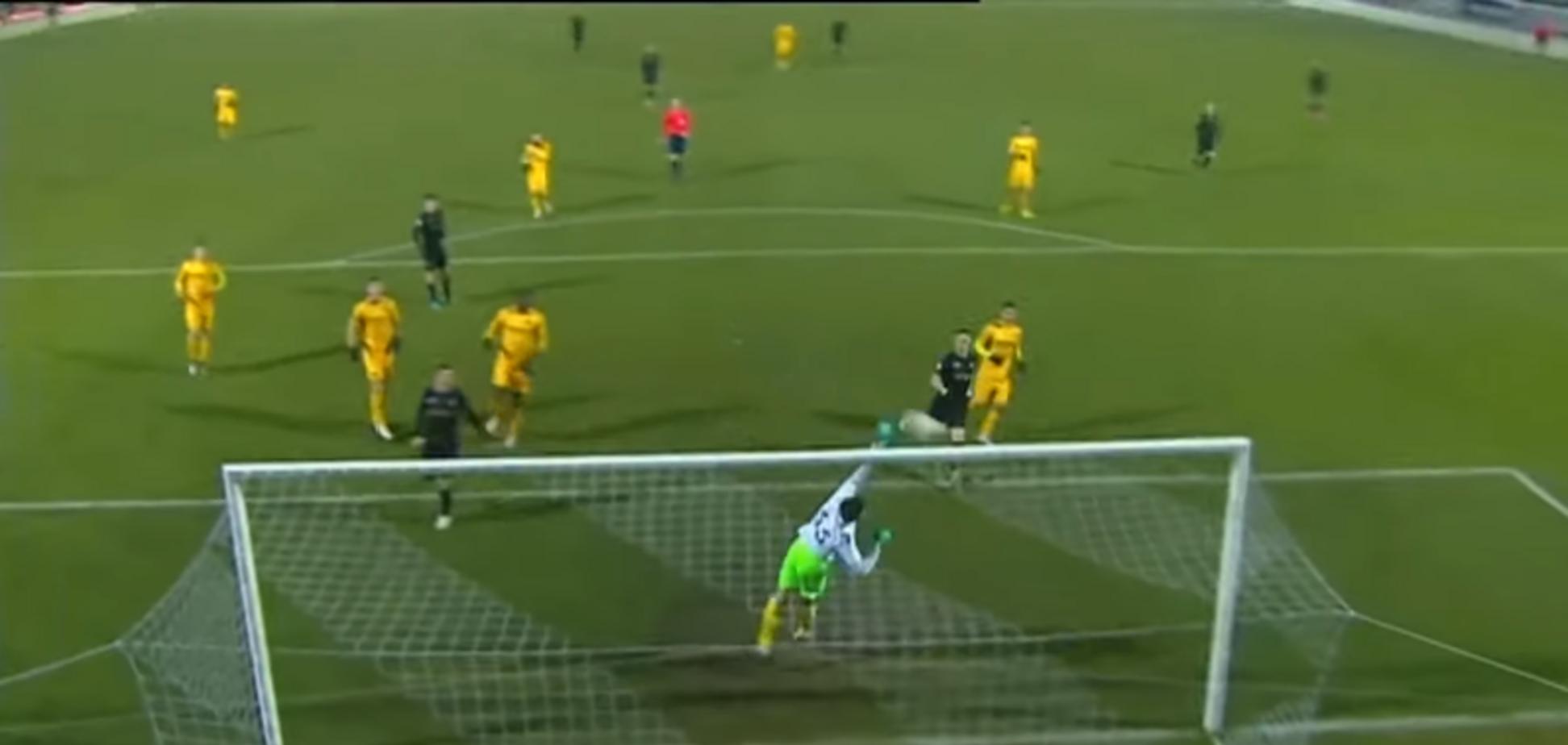 В чемпионате Украины по футболу забит гол, 'нарушающий законы физики'