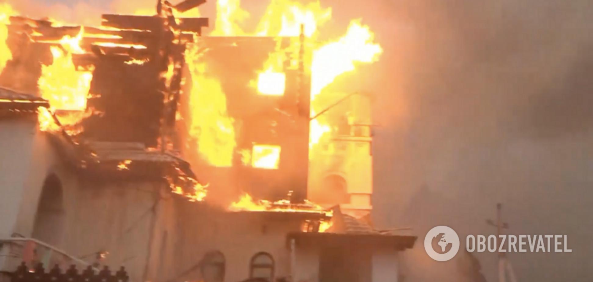 В России горела крупная гостиница: подробности и видео ЧП