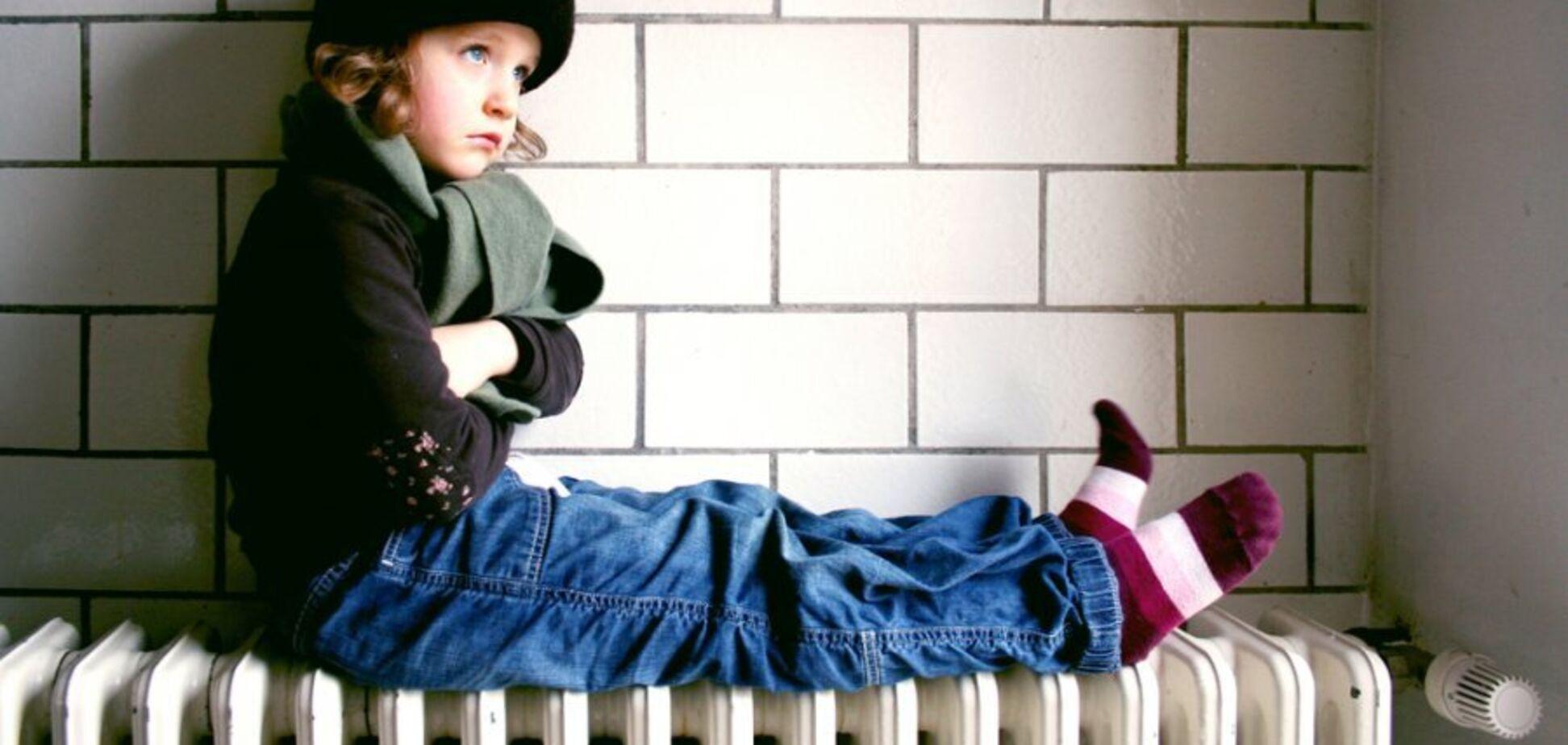 В Днепропетровской области дети мерзнут в школах и дома