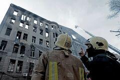 Згорілий коледж в Одесі