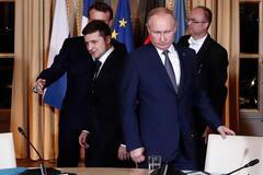 Зеленський і Путін на 'нормандської' зустрічі