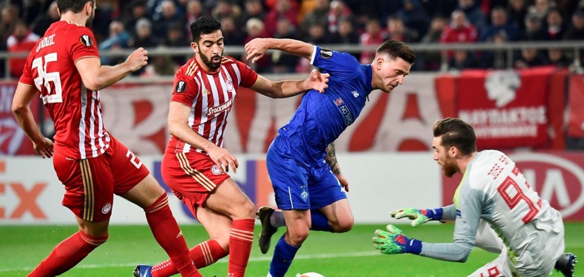 'Динамо' спаслось на последних минутах в Лиге Европы