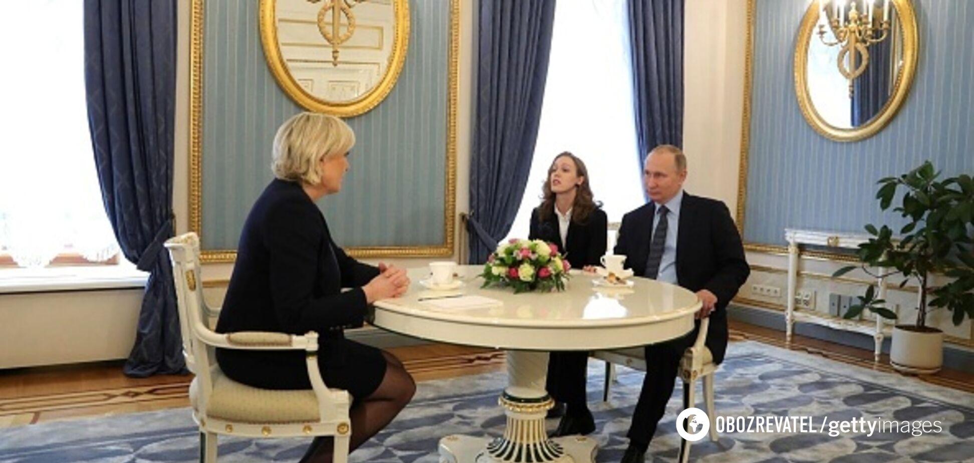 Путин и Ле Пен