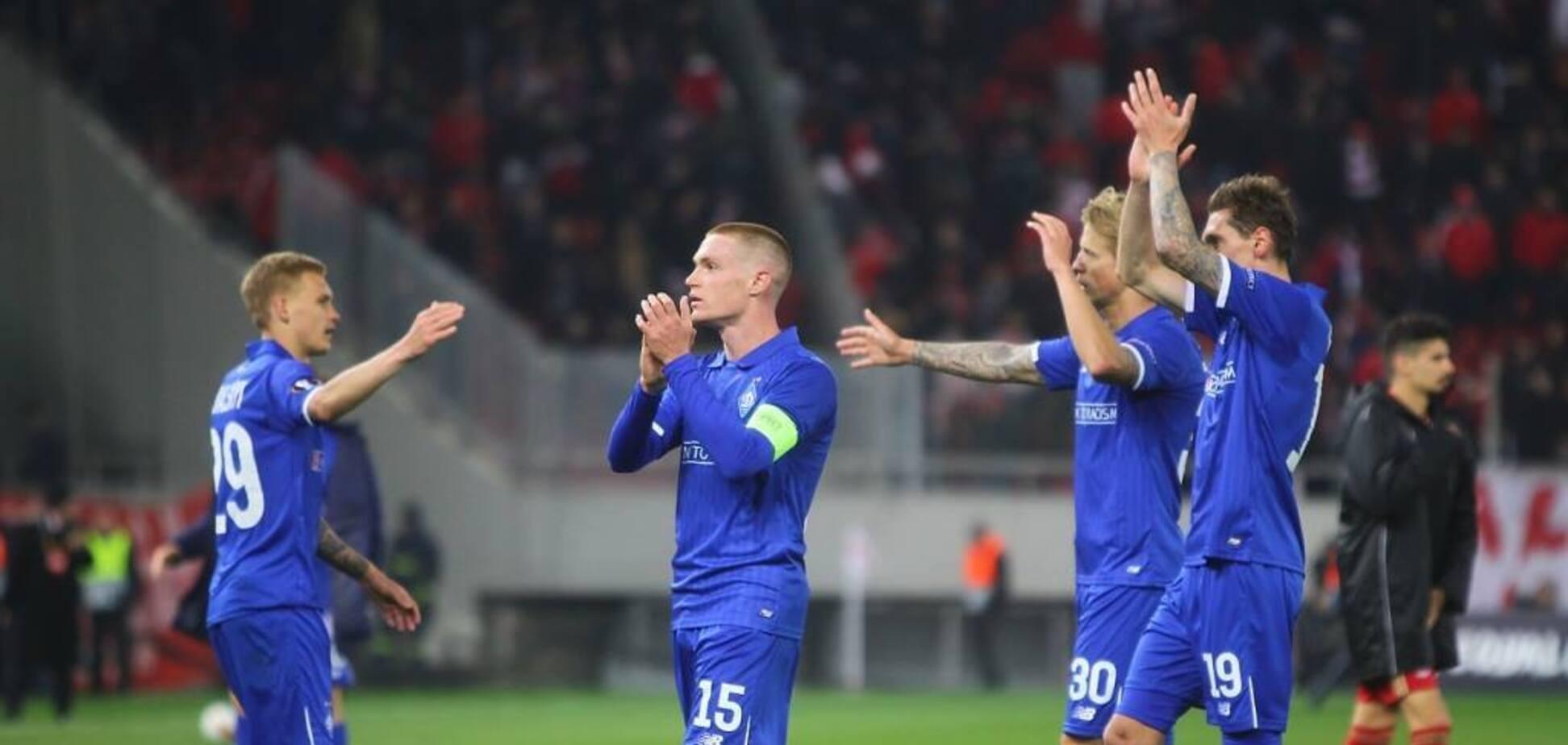 Динамо — Олімпіакос: відео-огляд матчу Ліги Європи