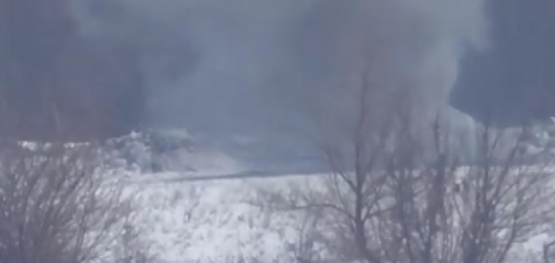 Прямое попадание: опубликовано видео меткого удара ВСУ по боевой точке ''ЛНР''