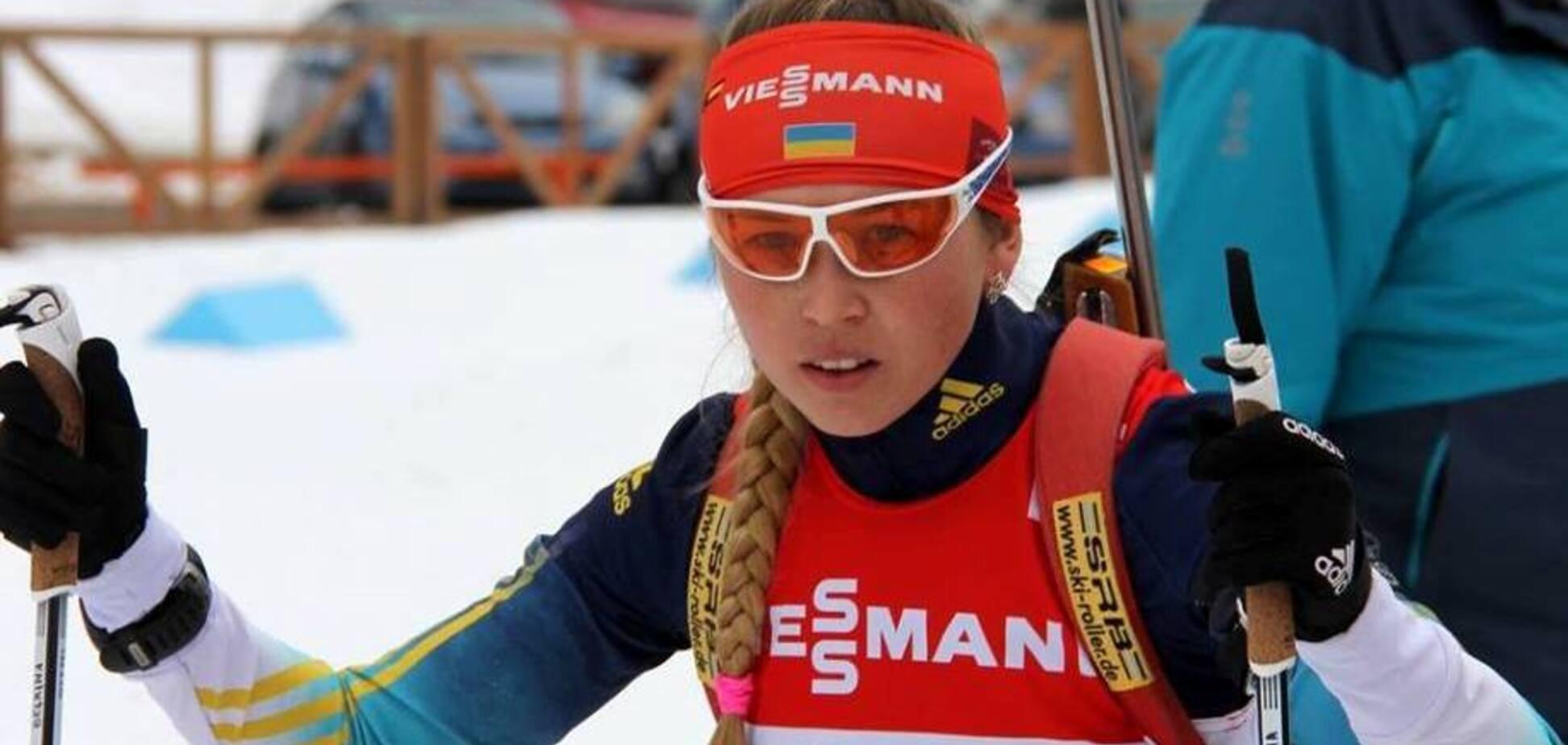Украина финишировала последней в гонке Кубка мира по биатлону