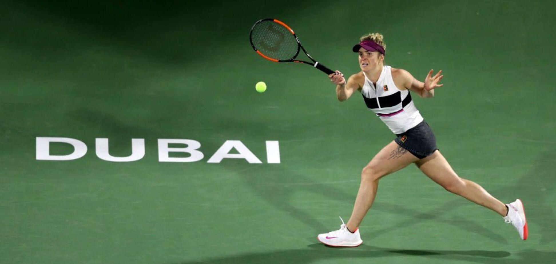 Свитолина уничтожила соперницу в 1/8 финала супертурнира в Дубае