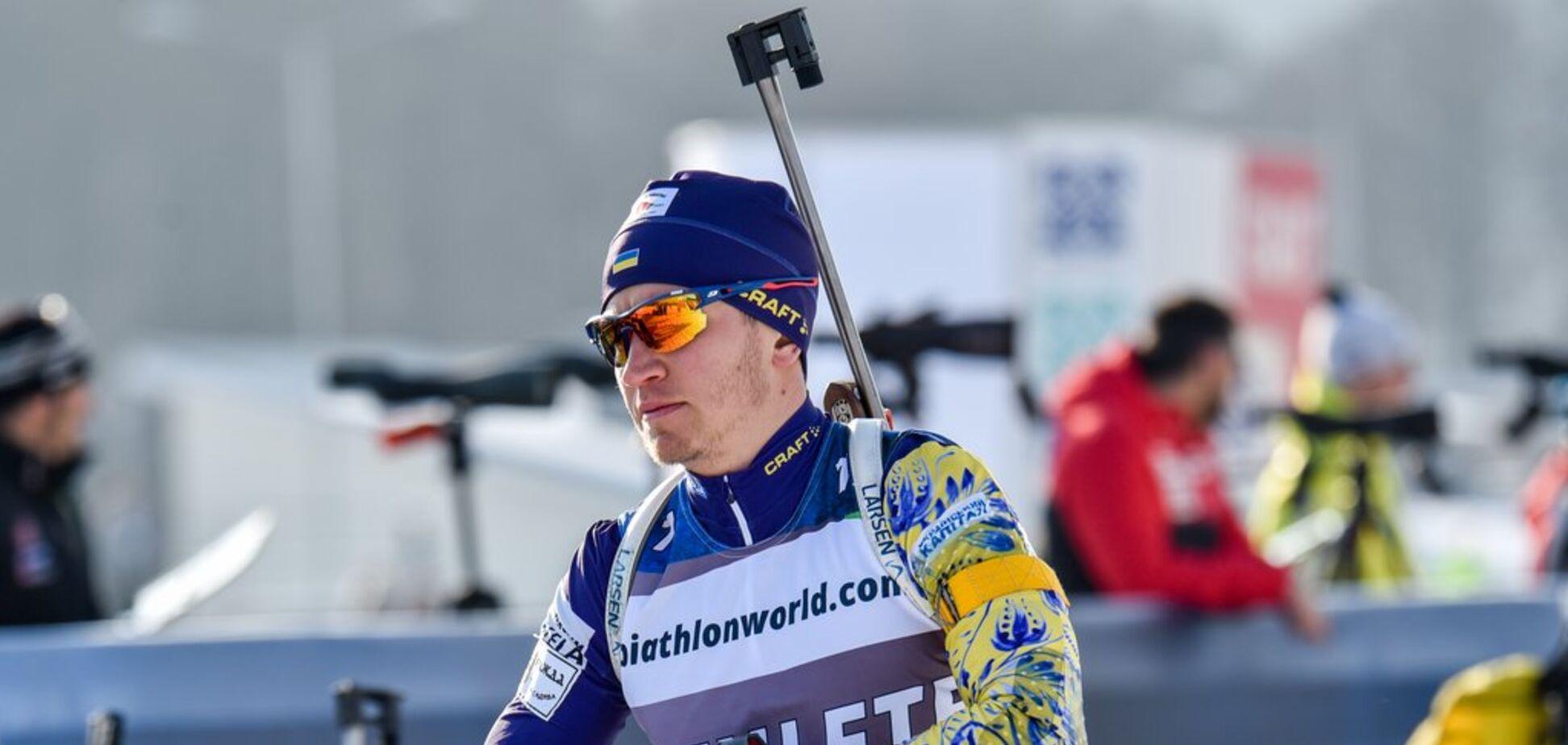 Украинец совершил мини-подвиг в стартовой гонке чемпионата Европы по биатлону