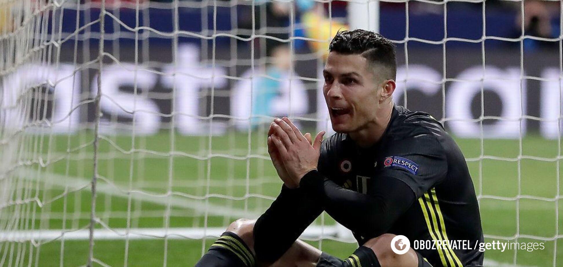 Роналду распсиховался после матча в Лиге чемпионов — видеофакт