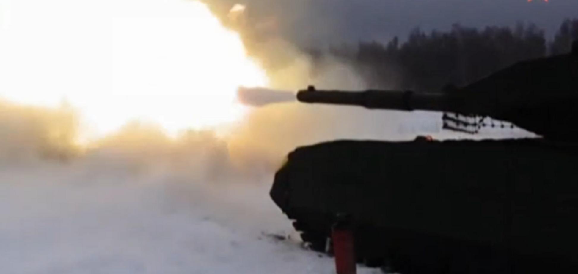В России похвастались показательным расстрелом украинских танков