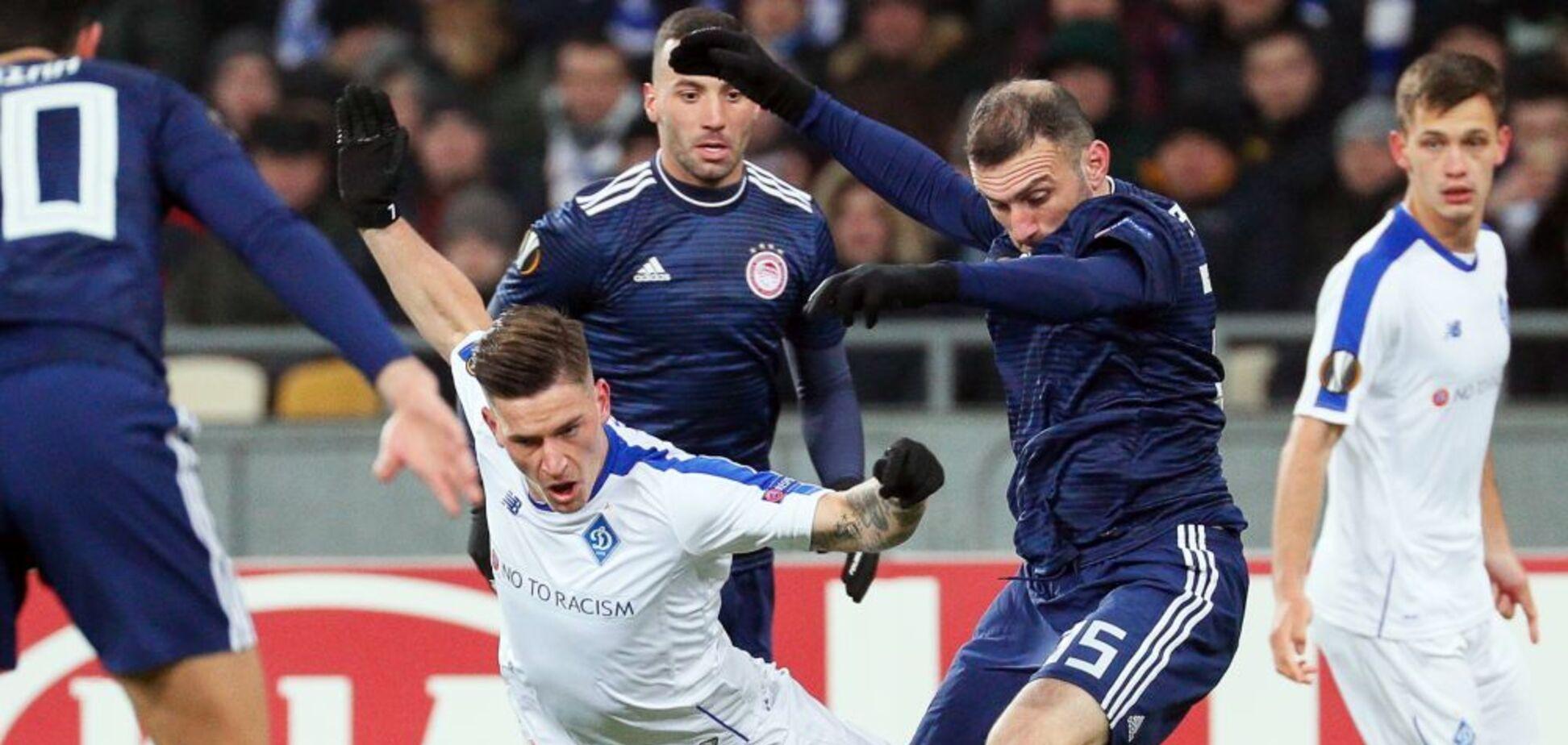 'Динамо' потеряло лучшего бомбардира на первый матч 1/8 финала Лиги Европы
